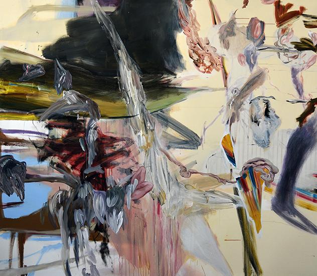 acrylic on canvas, 220cm x 200cm